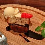 オステリア・ミラ - ランチドルチェ(バナナのパウンドケーキ)