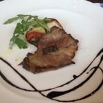 Trattoria LOGIC - 肉料理 イベリコ豚の香草オーブン焼 バルサミコ酢のソース
