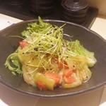 きぬ川 - 茄子とトマトのサラダ
