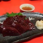 さんちゃん - 料理写真:国産希少馬レバー刺