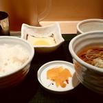 国産二八蕎麦 蕎香 - 国産二八蕎麦 蕎香@上野 朝定食 生たまご・国産とろろ 横から