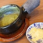 86110947 - 抹茶そばがきと黄粉