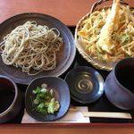 心々庵 - 料理写真:かき揚げ天ざる(二八蕎麦)