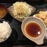 鶏魚Kitchenゆう - 鶏天定食(*´ω`*)