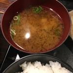 鶏魚Kitchenゆう - 味噌汁 (´∀`*)
