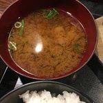 鶏魚Kitchenゆう - 味噌汁 コレ 普通