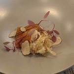 Les Ambassadeurs - 養殖穴子のポシェ蒲焼き風、ゴボウのリゾット、トリュフ