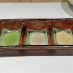 天ぷら 市 - 天ぷら用の塩3種