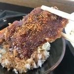 天鼓 - ミニカツ丼…甘めのみそです♪