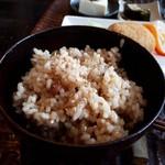 カフェギャラリー風と木 - おまかせ玄気膳(1188円) 玄米ご飯