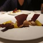 レストラン リューズ - ☆チョコレートアイスにパッションフルーツ(^^♪☆