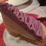 マカロニ食堂 - 紫芋のモンブランタルト