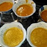 86127722 - 5種のカレーとスープ。