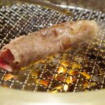 焼肉 銀座コバウ - サーロイン一枚切り