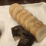 肉山 おおみや - 5000円コース5品目「エリンギ」