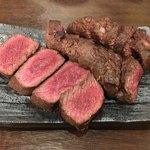 肉山 おおみや - 5000円コース6品目「熟成イチボ」
