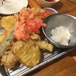 海鮮屋台 おくまん - 天ぷら七種
