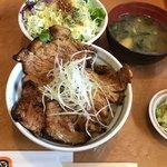 十勝豚丼 いっぴん - 料理写真:豚丼セット 980(税別)
