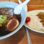 サングリーン - カレーセット  (醤油ラーメン)