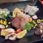 Setouchi Kitchen - 2018.5 瀬戸内直送 活〆鮮魚のカルパッチョ(1,485円)