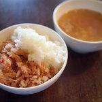 レッフェル - 料理写真:ご飯とスープ