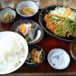 飯盛 満腹亭 - 料理写真:豚ロースカツおろしポン酢がけ 840円