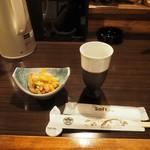 居酒屋 菜づ菜 - 付け出し+アルコール