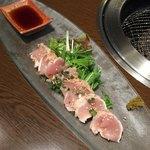 大衆焼肉 寿 - ムネ肉タタキ