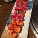 大衆焼肉 寿 - シロコロ、佐賀牛中落ちカルビ、寿カルビ