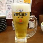 串カツさくら - 生ビール(500円)
