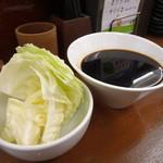 串カツさくら - 無料のキャベツと二度づけ禁止のソース