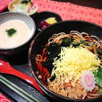 和楽 花音 - 「つばさプラン」880円。夏は冷たい芋そばと、とろろ飯・食後に紫いもアイス付き♪