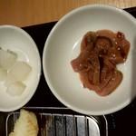 86146052 - サービスの柚子大根とイカの塩辛