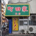 町田家 - 駅方面より店舗