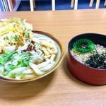 手打ちうどん 和光 - 料理写真:My定番は・・うどん定食+天ぷら
