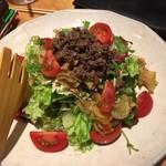 ほいっぽ - フルティカトマトと牛そぼろのサラダ