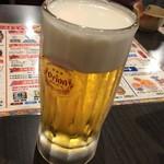 沖縄食堂 てぃーだかんかん - 沖縄と言えばオリオンビールで乾杯!(「カリー!」って言うのかな?)