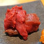 石臼挽き手打 蕎楽亭 - 会津の馬刺し 盛合わせ のヒレ肉