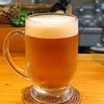 石臼挽き手打 蕎楽亭 - 生ビール
