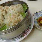 中華 つけ麺 はるき - シュウマイ4個¥390-