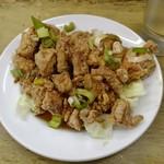 中華 つけ麺 はるき - 油淋鶏¥490-