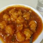 中華 つけ麺 はるき - エビチリ(辛め)¥500-