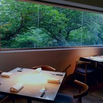 クラフタル - 葉桜が窓いっぱいに広がります
