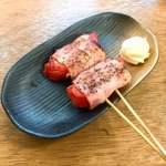鶴見川橋もつ肉店 - トマトベーコン