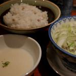 たんや 善治郎 - テールスープ、麦飯、とろろ付