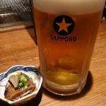 東岡崎魚酒場 どぉーん - 男前ジョッキとお通し