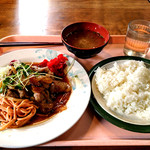 立教大学 第一食堂 - 生姜焼き定食