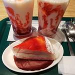 プロント - つぶつぶいちごミルク ¥380 いちごとヨーグルトのミルクレープ ¥380
