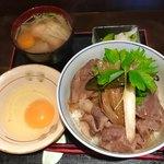 86179816 - 牛丼・大盛り+たまご