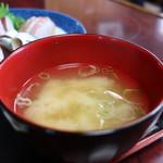魚料理 ホノルル食堂 - あおさとねぎのみそ汁
